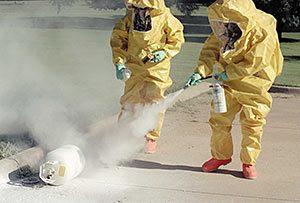 chemical warfare decontamination