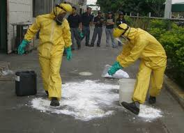 proper chemical spill clean up